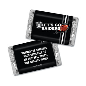 Personalized Raiders Football Party Hershey's Miniatures Wrappers