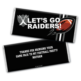 Personalized Raiders Football Party Hershey's Chocolate Bar & Wrapper