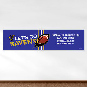 Personalized Ravens Football Party 5 Ft. Banner
