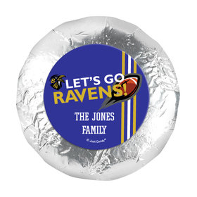 "Personalized Ravens Football Party 1.25"" Stickers (48 Stickers)"