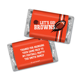 Personalized Browns Football Party Hershey's Miniatures Wrappers