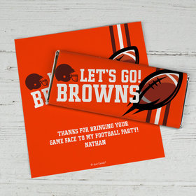 Personalized Browns Football Party Chocolate Bar Wrappers Only