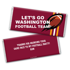 Personalized Washington Football Party Hershey's Chocolate Bar & Wrapper