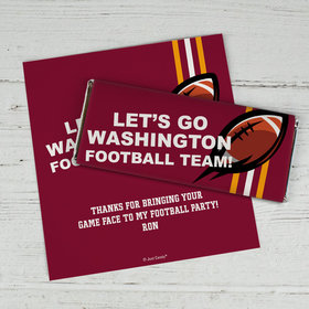 Personalized Washington Football Party Chocolate Bar Wrappers Only