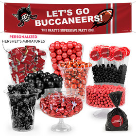 Personalized Buccaneers Football Party Deluxe Candy Buffet