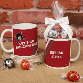 Personalized Let's Go Buccaneers 11oz Mug with Lindt Truffles