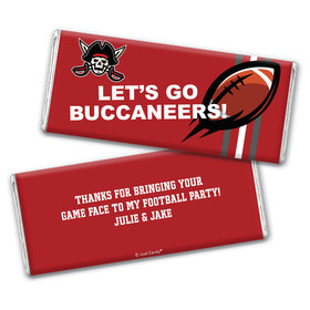 Personalized Buccaneers Football Party Hershey's Chocolate Bar & Wrapper