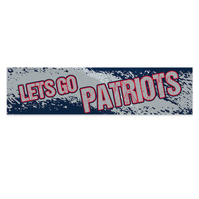 Let's Go Patriots Football Party 5 Ft. Banner