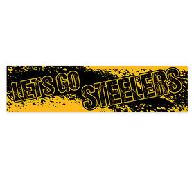 Let's Go Steelers Football Party 5 Ft. Banner
