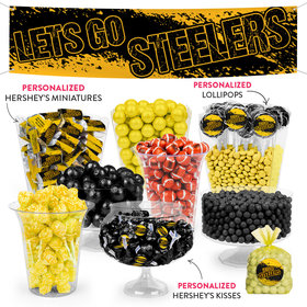 Lets Go Steelers Deluxe Candy Buffet