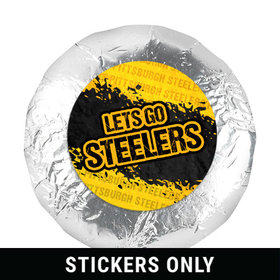 """Let's Go Steelers 1.25"""" Stickers (48 Stickers)"""