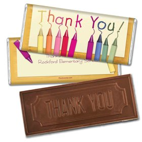 Teacher Appreciation Personalized Embossed Chocolate Bar Crayon