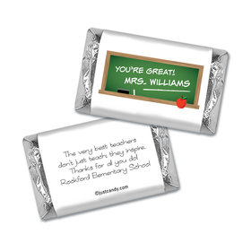 Chalkboard Courtesy Personalized Miniature Wrappers