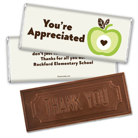 One Cool Apple Thank you Embossed Chocolate Bar