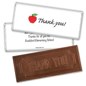 Appreciation Apple Thank you Embossed Chocolate Bar