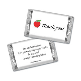 Appreciation Apple Personalized Miniature Wrappers