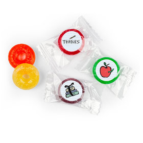 Custom LifeSavers 5 Flavor Hard Candy - Doodle Teacher Gift Stickers