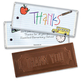Notebook Thanks Thank you Embossed Chocolate Bar