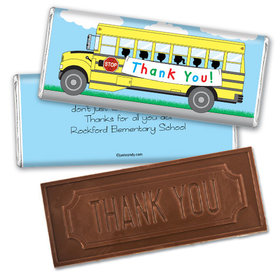 Grateful Ride Thank you Embossed Chocolate Bar