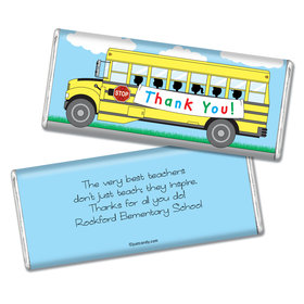 Personalized Teacher Appreciation Chocolate Bar & Wrapper