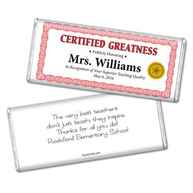 Certificate of Gratitude Personalized Hershey's Bar Assembled