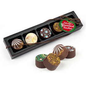 Teacher Appreciation Big Apple Gourmet Chocolate Truffle Gift Box (5 Truffles)