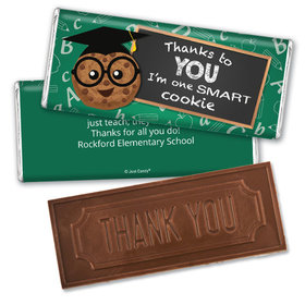 Personalized Teacher's Appreciation Cookie Embossed Chocolate Bar and Wrapper