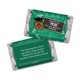 Personalized Teacher Appreciation One Smart Cookie Hershey's Miniatures Wrappers
