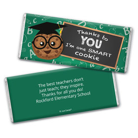 Personalized Teacher's Appreciation Cookie Chocolate Bar Wrappers Only