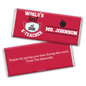 Personalized E-Teacher Appreciation Chocolate Bars