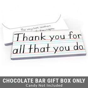 Deluxe Personalized You Rule Teacher Appreciation Candy Bar Favor Box