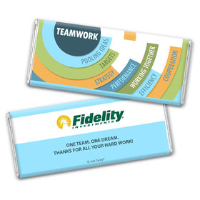 Personalized Teamwork Logo Chocolate Bar
