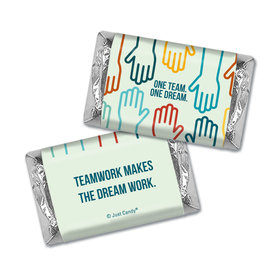 Personalized Business Teamwork Hershey's Miniatures - One Team One Dream