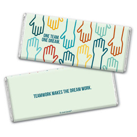 Personalized Teamwork One Team One Dream Chocolate Bar