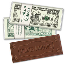 Personalized Embossed Thanks a Million Chocolate Bar Assembled