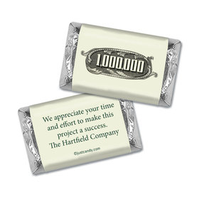 Personalized Hershey's Miniature Wrappers Only - Business Thank You Thanks a Million
