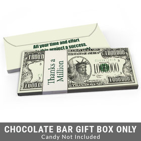 Deluxe Personalized Thanks A Million Business Thank You Candy Bar Favor Box
