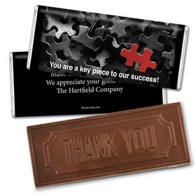 Key PieceEmbossed Thank You Bar Personalized Embossed Chocolate Bar Assembled