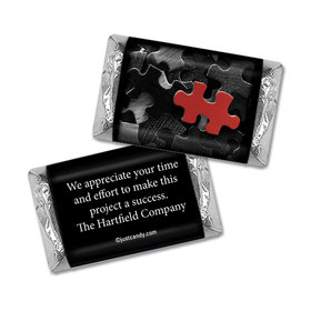 Personalized Hershey's Miniature Wrappers Only - Business Thank You Puzzle Key Piece