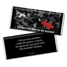Business Thank You Personalized Chocolate Bar Puzzle Key Piece