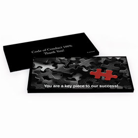 Deluxe Personalized Puzzle Business Thank You Hershey's Chocolate Bar in Gift Box