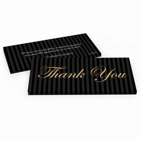 Deluxe Personalized Pinstripes Business Thank You Hershey's Chocolate Bar in Gift Box