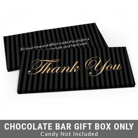 Deluxe Personalized Pinstripes Business Thank You Candy Bar Cover