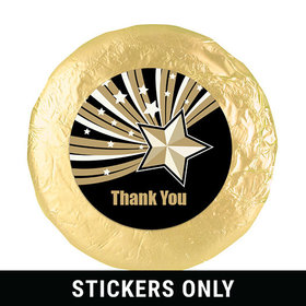 "Business Thank You 1.25"" Sticker Gold Stars (48 Stickers)"