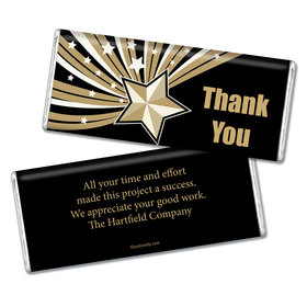 Business Thank You Personalized Chocolate Bar Gold Stars