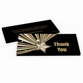 Deluxe Personalized Gold Star Business Thank You Hershey's Chocolate Bar in Gift Box