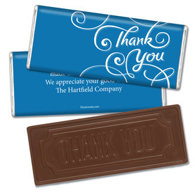 Surrounding ThanksEmbossed Thank You Bar Personalized Embossed Chocolate Bar Assembled