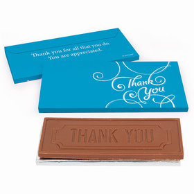 Deluxe Personalized Script Business Thank You Chocolate Bar in Gift Box