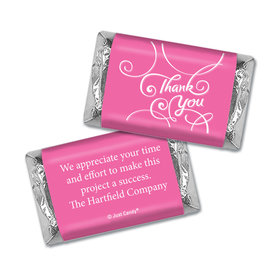 Personalized Hershey's Miniature Wrappers Only - Business Thank You Scroll