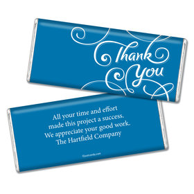 Thank You Personalized Chocolate Bar Scroll